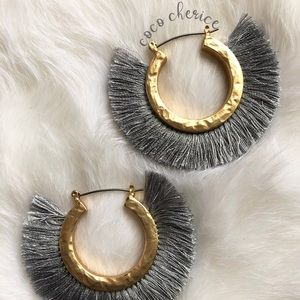 Jewelry - Fringe Hoop Earrings